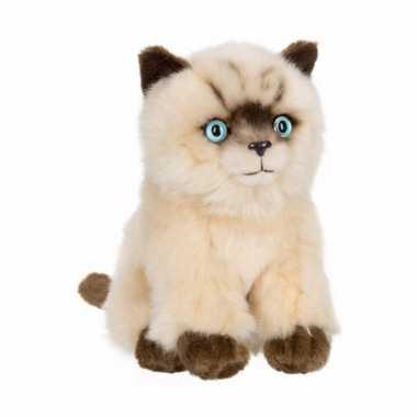 Baby anna plush siamese katten/poes zittend speelgoed