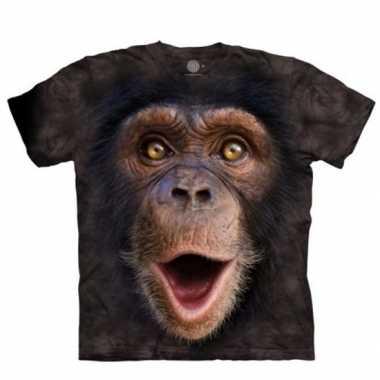 Baby apen t-shirt chimpansee jong volwassenen speelgoed