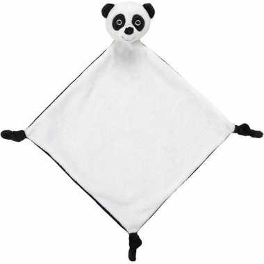 Baby beren tutteldoekjes knuffels panda wit speelgoed