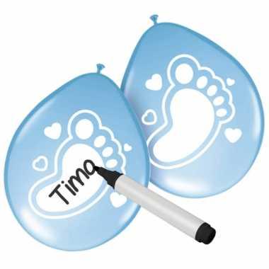 Baby beschrijfbare ballonnen geboorte jongen stuks speelgoed