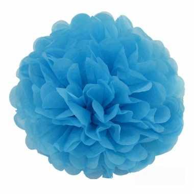 Baby  Blauwe bloem pompom speelgoed