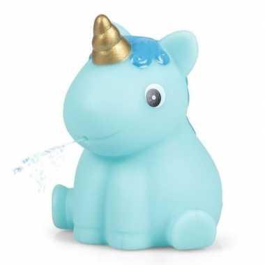 Baby blauwe eenhoorn badeend , speelgoed