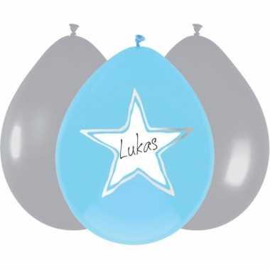 Baby blauwe geboorte ballonen stuks speelgoed