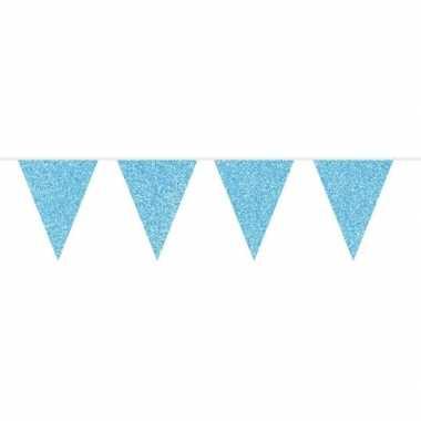 Baby blauwe glitter vlaggenlijn meter speelgoed