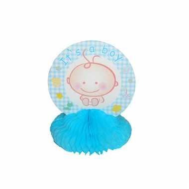 Baby blauwe tafeldecoratie speelgoed