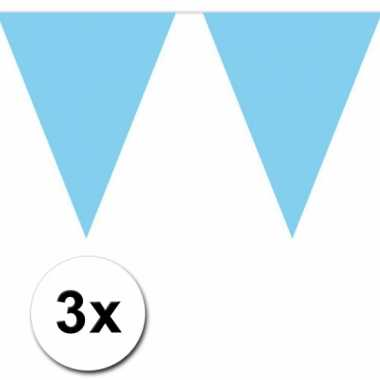 Baby blauwe vlaggetjeslijnen meter speelgoed