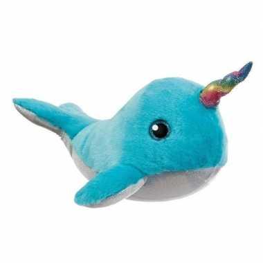 Baby blauwe zeedieren knuffels walvis speelgoed