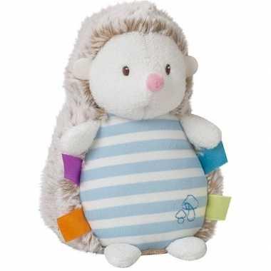 Baby bosdieren knuffels egel blauw lichtgevend speelgoed
