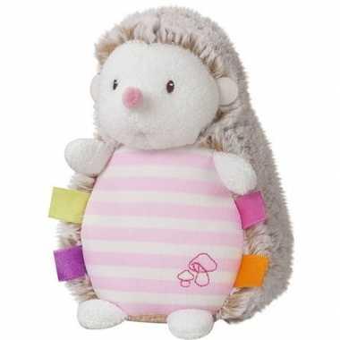 Baby bosdieren knuffels egel roze lichtgevend speelgoed