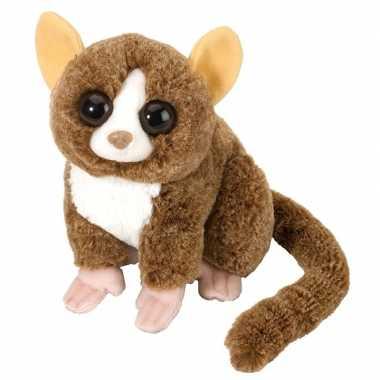 Baby bosdieren knuffels spookdiertje bruin speelgoed