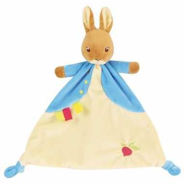 Baby bosdieren tutteldoekjes knuffels pieter konijn/haas speelgoed