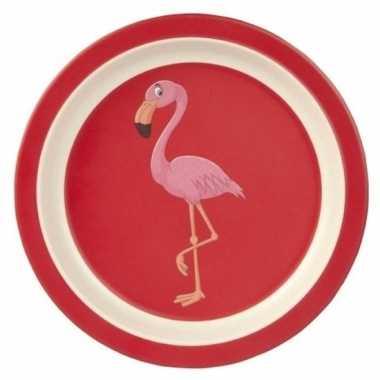 Baby broodbordje flamingo speelgoed