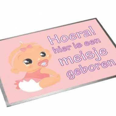 Baby  Deurmat Hoera een meisje speelgoed