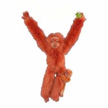 Baby dieren knuffels oran oetan jong speelgoed