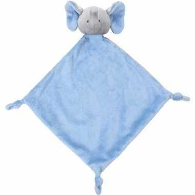Baby dieren tutteldoekjes knuffels olifant blauw speelgoed