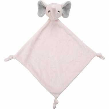 Baby dieren tutteldoekjes knuffels olifant roze speelgoed