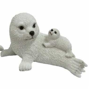 Baby dierenbeeld zeehond jong moeder speelgoed