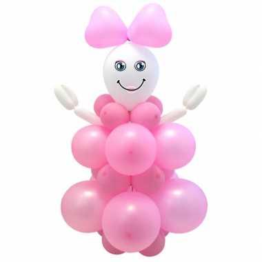 Baby  Doe zelf ballon set geboorte meisje speelgoed