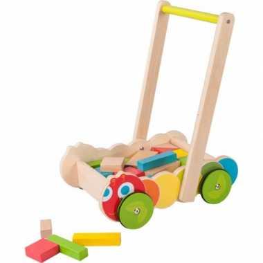 Baby educatieve houten loopwagen speelgoed