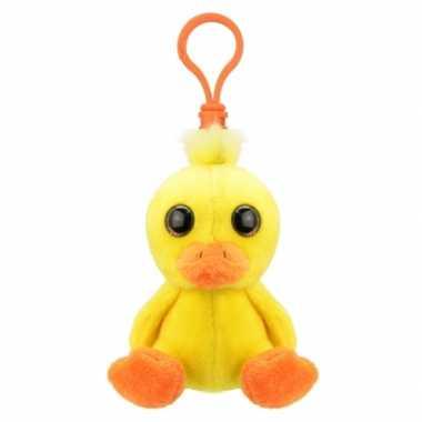 Baby eend sleutelhangertje speelgoed