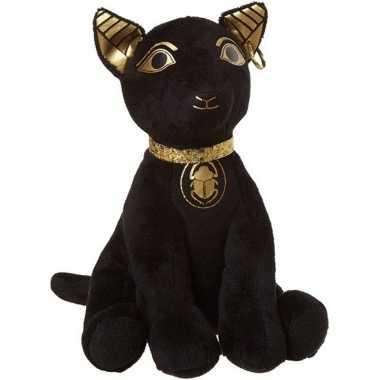 Baby egyptische dieren knuffels bastet kat zwart speelgoed