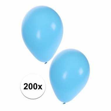 Baby feest ballonnen licht blauw speelgoed