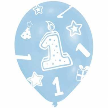 Baby feestversiering ballonnen blauw jaar stuks speelgoed