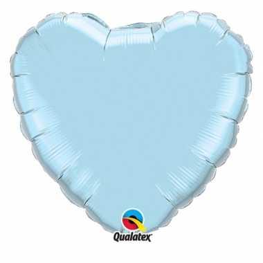 Baby folie ballon blauw hart speelgoed
