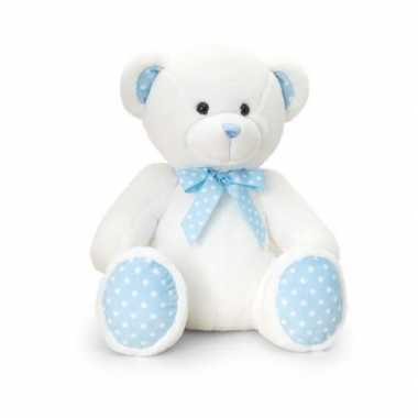 Baby geboorte meisje blauw knuffelbeer speelgoed
