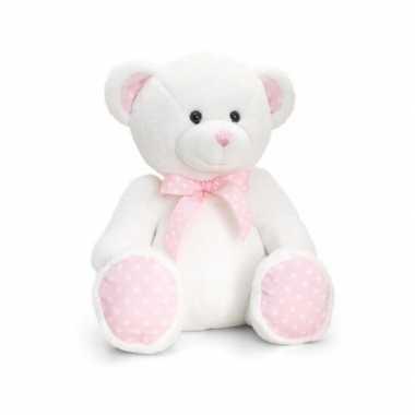 Baby geboorte meisje roze knuffelbeer speelgoed