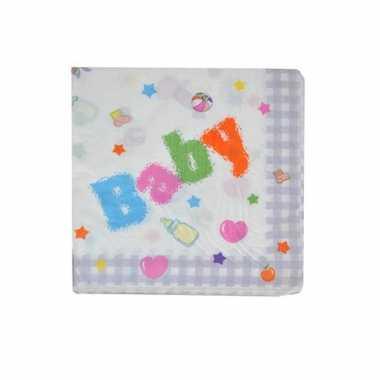 Baby  Geboorte servetten x speelgoed