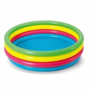 Baby gekleurd rond opblaasbaar zwembad kinderen speelgoed
