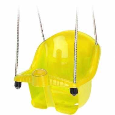 Baby gele peuterschommel touw speelgoed
