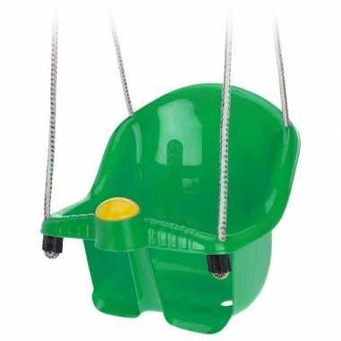 Baby groene peuterschommel touw speelgoed