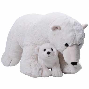 Baby grote pluche witte ijsbeer welpje knuffel speelgoed