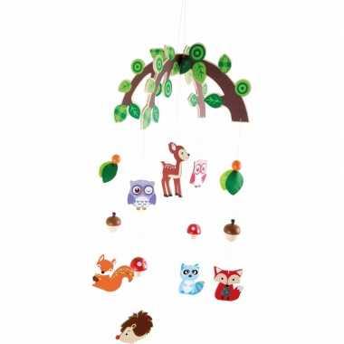 Baby hangdecoratie mobiel bosdieren meisjes speelgoed