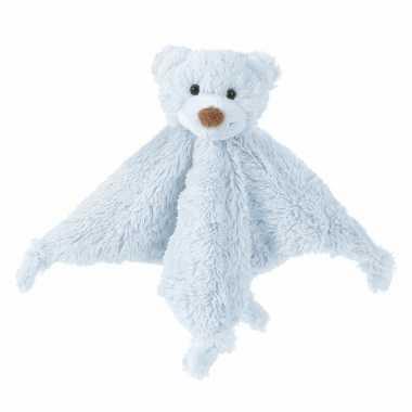 Baby happy horse pluche tuttel lapjes blauw speelgoed
