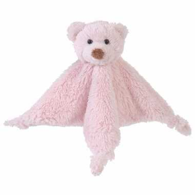 Baby happy horse pluche tuttel lapjes roze speelgoed