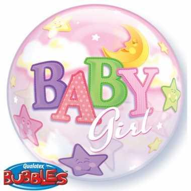 Baby  Helium ballon roze geboorte meisje speelgoed