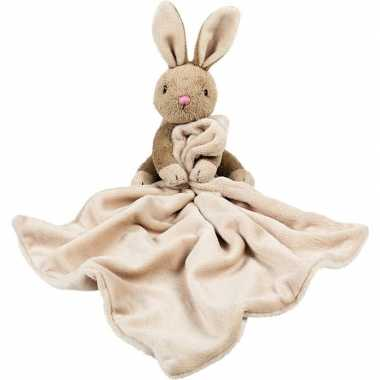 Baby huisdieren tutteldoekjes knuffels konijn /haasbruin speelgoed