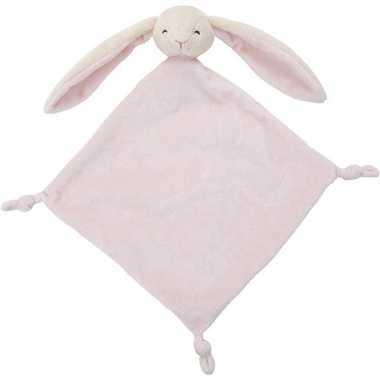 Baby huisdieren tutteldoekjes knuffels konijn roze speelgoed