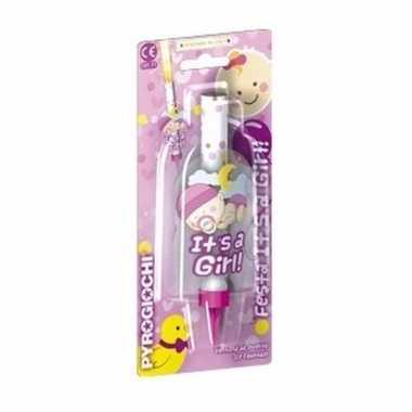 Baby ijsfontein geboorte meisje speelgoed