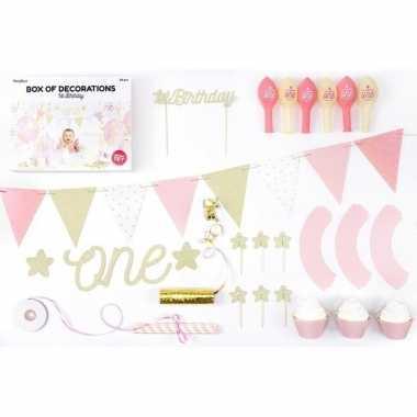 Baby jaar leeftijd versiering feest pakket meisje speelgoed