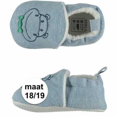 Baby jongens pantoffels nijlpaard maat / speelgoed