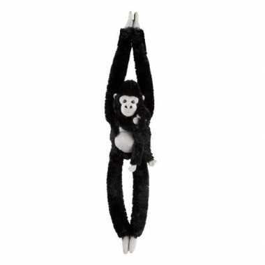 Baby jungledieren knuffels gorilla zwart speelgoed
