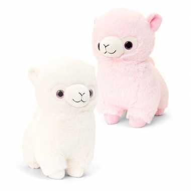 Baby keel toys pluche roze alpaca lama speelgoed