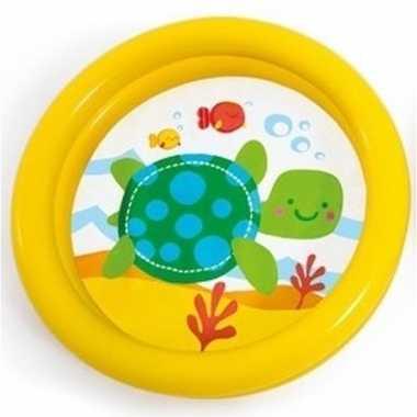 Baby/kinder opblaas zwembad geel speelgoed