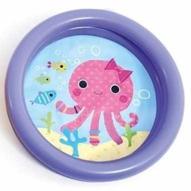 Baby/kinder opblaas zwembad paars speelgoed