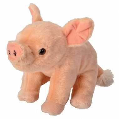 Baby knuffel pluche biggetje roze speelgoed