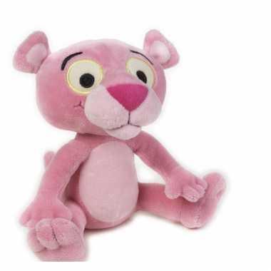 Baby knuffel roze panter speelgoed